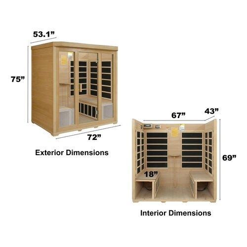 Crystal Sauna Basic Series 4 Person Carbon FAR Infrared Sauna