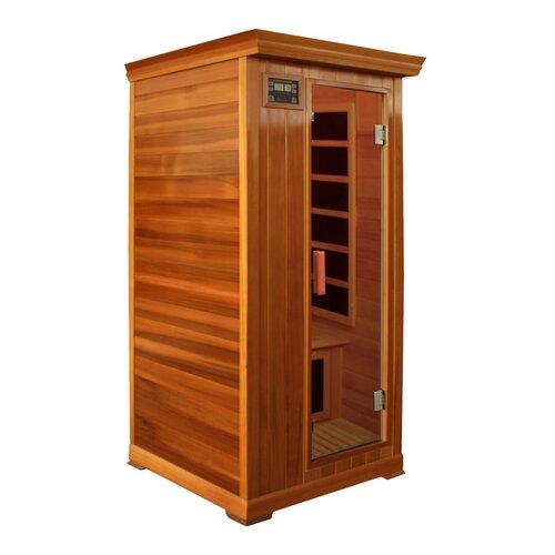 Crystal Sauna Family Series 1 Person Carbon FAR Infrared Sauna