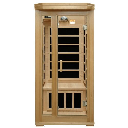 crystal sauna basic series 1 person carbon far infrared sauna reviews wayfair. Black Bedroom Furniture Sets. Home Design Ideas