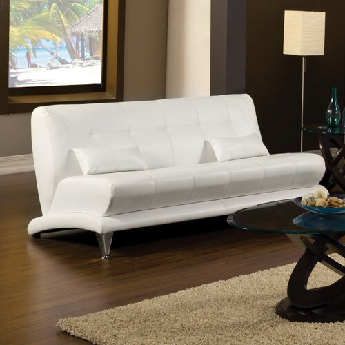 Hokku Designs Sewell Leatherette Sleeper Sofa