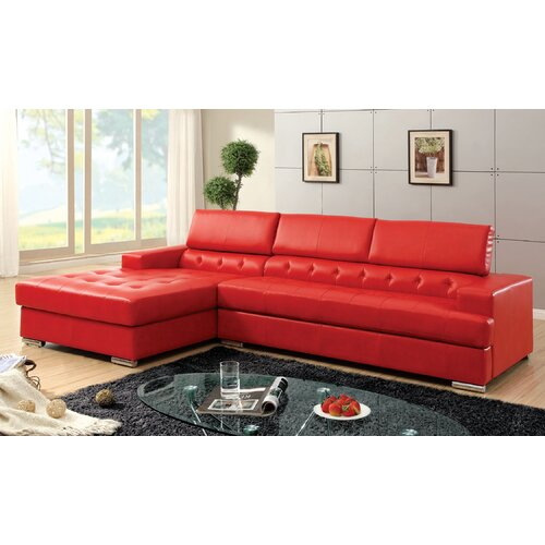 Derrikke Tufted Sectional with Storage Console