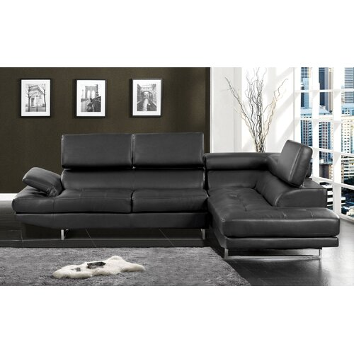 Derrikke Sleek Sectional with Speaker Console