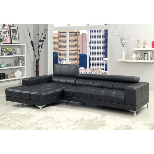 Derrikke Plush Sectional with Speaker Console