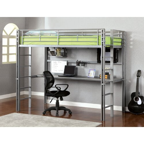 Regis Twin Loft Bed with Workstation