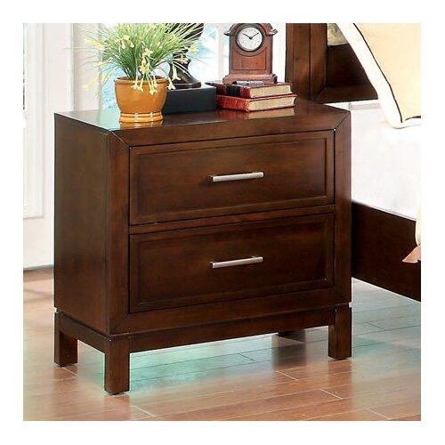 Hokku Designs Savannah 2 Drawer Nightstand