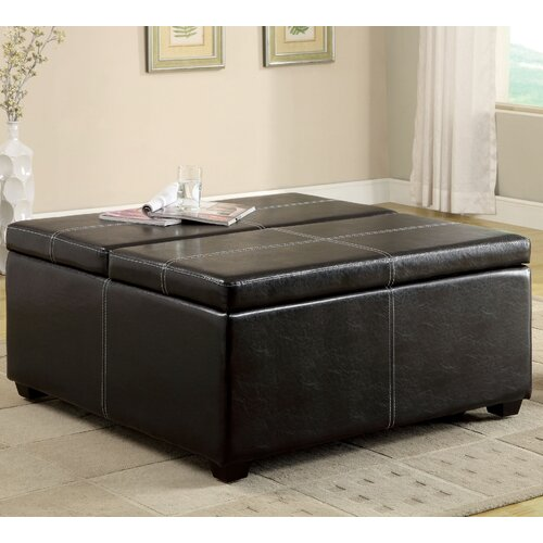 Open Storage Cocktail Ottoman
