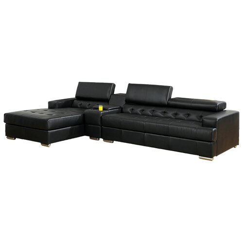 Derrikke Tufted Sectional with Speaker Console