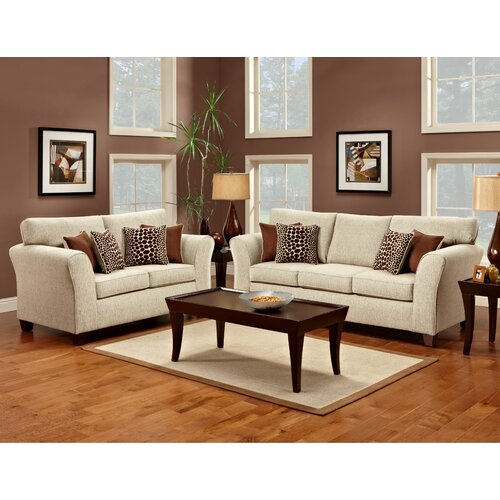 Olivia Fabric Sofa Set