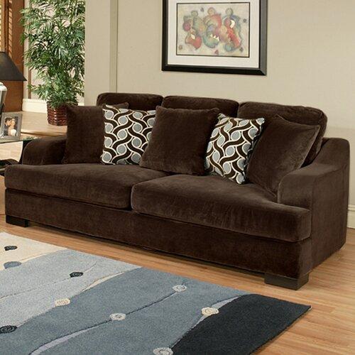 Hokku Designs Valenciaga Bonded Suede Sleeper Sofa