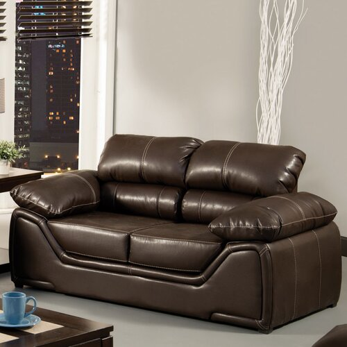 Velasco Leatherette Loveseat