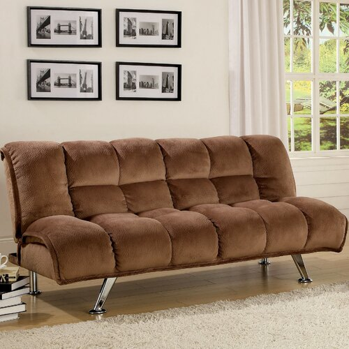 Hokku Designs Jopelli Flannel Convertible Sleeper Sofa
