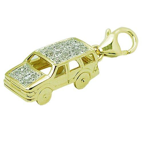 EZ Charms 14K 1.27 Grams Yellow Gold Diamond SUV Car Charm