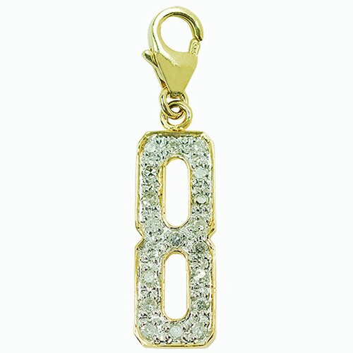 "EZ Charms 14K Yellow Gold Diamond ""8"" Charm"