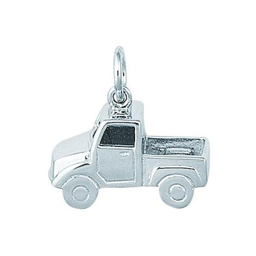 EZ Charms Sterling Silver Large Pick Up Truck Charm