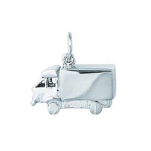 EZ Charms Sterling Silver Transport Truck 3-D Charm