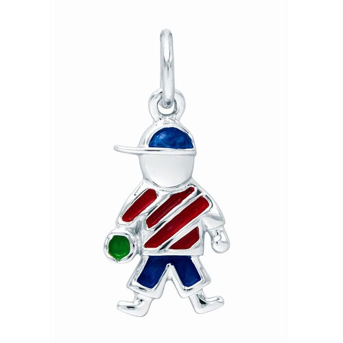 EZ Charms Sterling Silver Boy Charm