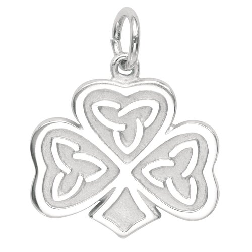 EZ Charms Sterling Silver Celtic Clover Charm