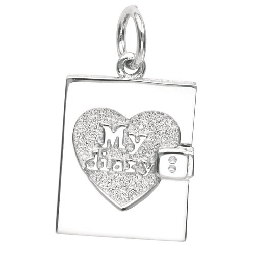 EZ Charms Sterling Silver My Diary Charm