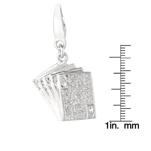 EZ Charms Playing Cards Charm in Sliver
