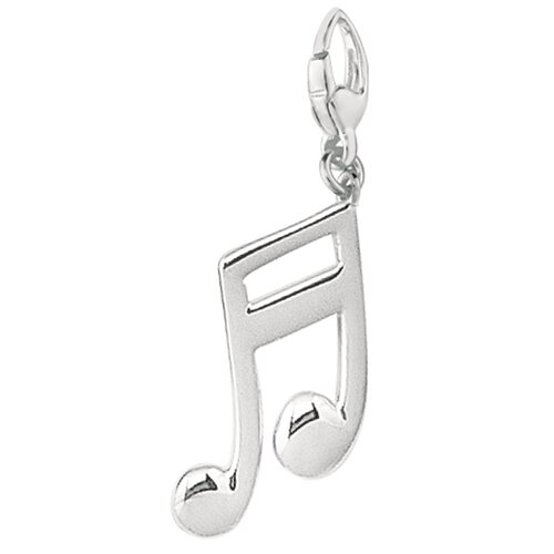 EZ Charms Sterling Silver Double Musical Note Charm