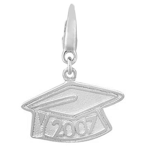 EZ Charms Sterling Silver 2007 Graduation Cap Charm
