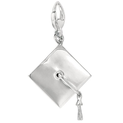 EZ Charms Sterling Silver Graduation Cap Charm