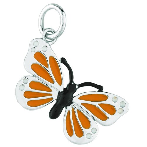 EZ Charms Sterling Silver Monarch Butterfly Charm
