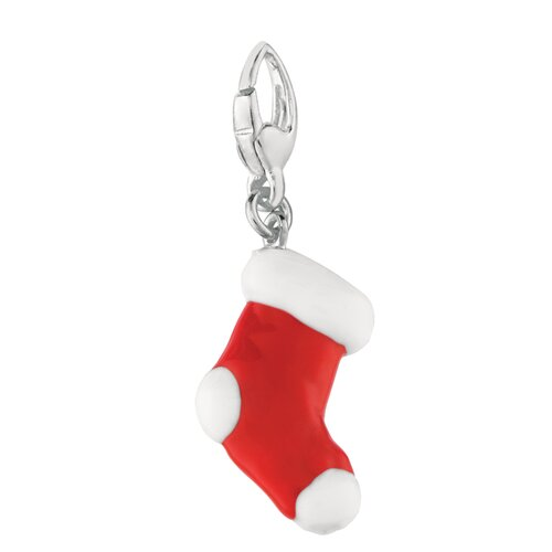 EZ Charms Sterling Silver Christmas Stocking Charm