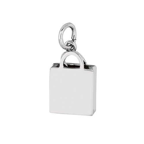 EZ Charms Sterling Silver Shopping Bag Charm