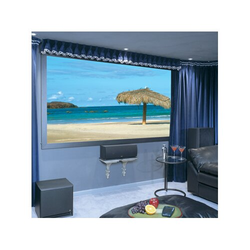 Draper Onyx with Vertex Pure White Electric Projection Screen