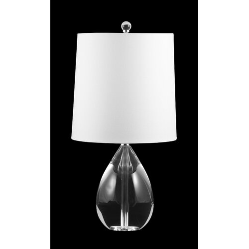 "Lamp Works Crystal Teardrop 20"" H Table Lamp with Drum Shade"