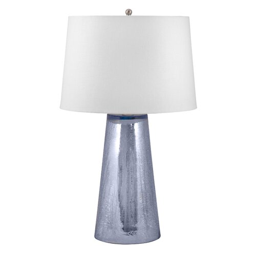"""Lamp Works Crackle 25"""" H Table Lamp with Drum Shade"""