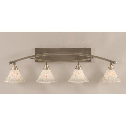 Toltec Lighting Bow 4 Light Bathroom Vanity Light