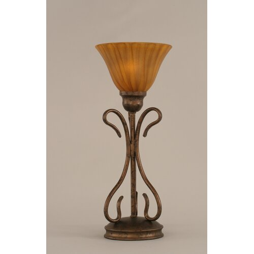 "Toltec Lighting Swan 16.75"" H Table Lamp with Bell Shade"