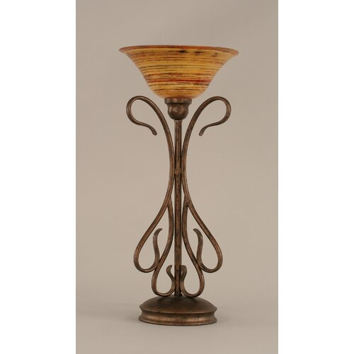 Toltec Lighting Table Lamp with Firre Saturn Glass Shade