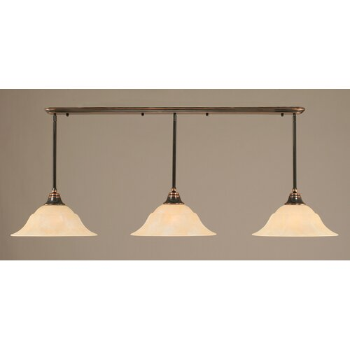 3 Light Multi Light Pendant With Hang Straight Swivels