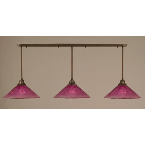 Toltec Lighting 3 Light Multi Light Pendant With Hang Straight Swivels