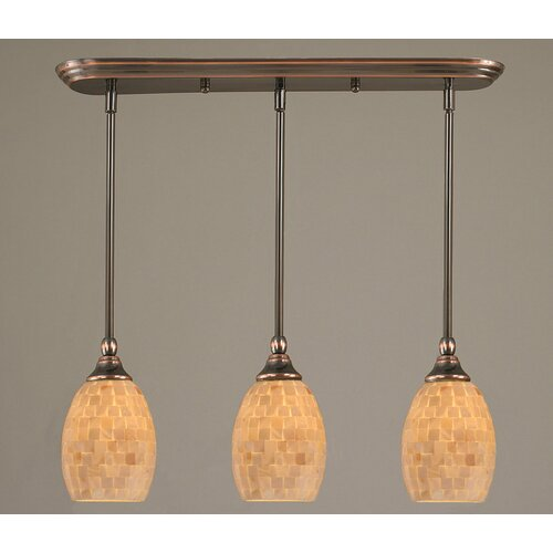 Toltec Lighting 3 Light Multi Light Mini Pendant With Hang Straight Swivels