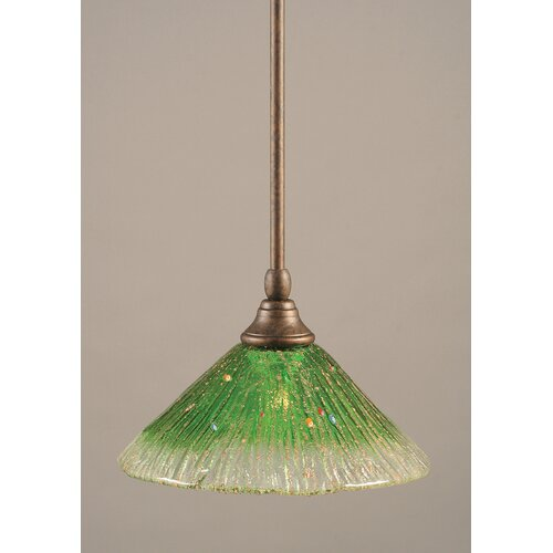 Toltec Lighting Stem Mini Pendant With Hang Straight Swivel