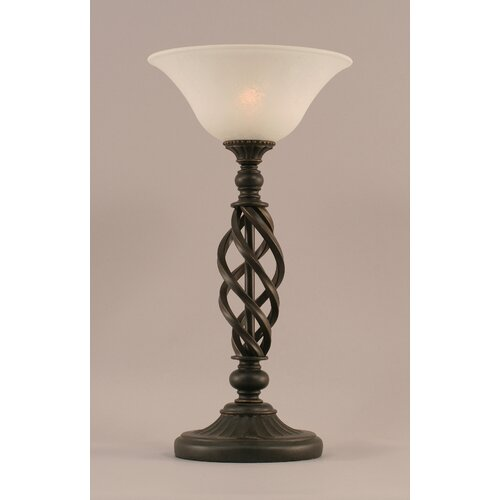 "Toltec Lighting Elegante 20"" H Table Lamp with White Marble Glass"