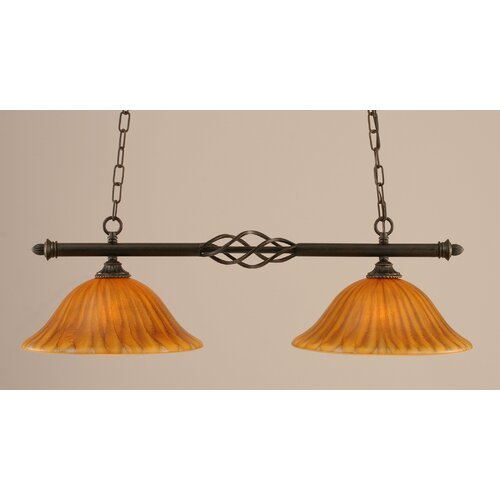 Eleganté 2 Light Kitchen Island Pendant