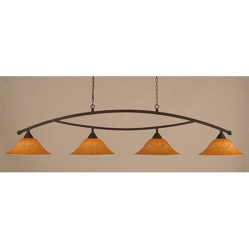 Bow 4 Light Kitchen Island Pendant