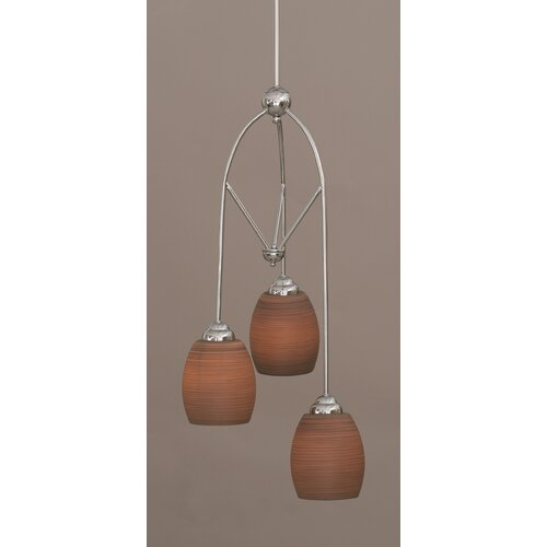 Toltec Lighting Contempo 3 Light Multi Mini Pendant With Hang Straight Swivel