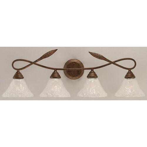 Toltec Lighting Leaf 4 Light Bathroom Vanity Light
