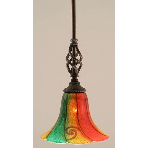 Toltec Lighting Eleganté Mini Pendant With Hang Straight Swivel
