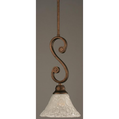 Toltec Lighting Curl 1 Light Mini Pendant