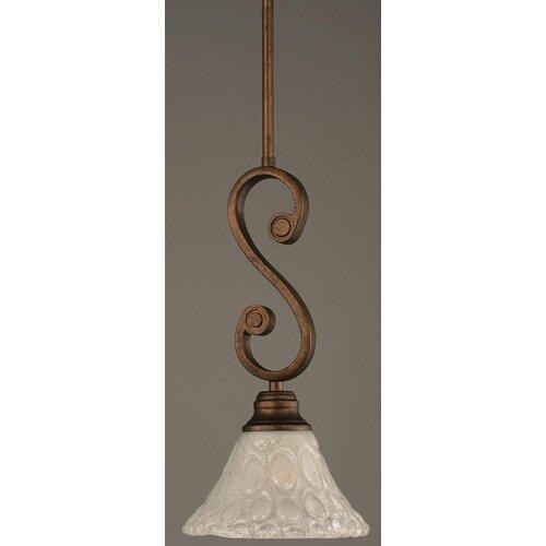 Toltec Lighting Curl Mini Pendant With Hang Straight Swivel