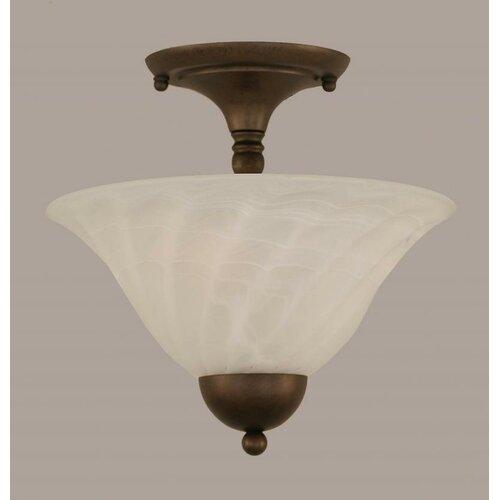 Toltec Lighting Any 2 Light Semi Flush Mount