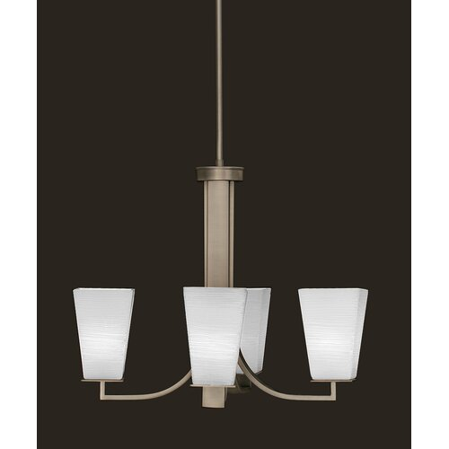 Apollo 4 Light Chandelier With Hang Straight Swivel