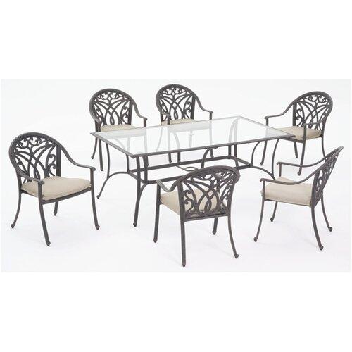 AIC Garden & Casual Montecito 7 Piece Dining Set